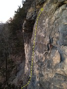 Rock Climbing Photo: Primal, as seen from half way up Cavemen
