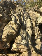 Rock Climbing Photo: Cro-Magnon Cave Wall (left of cave proper)