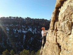 Rock Climbing Photo: Bob nearing the anchors.