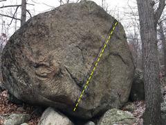 Rock Climbing Photo: Chalk the Line.