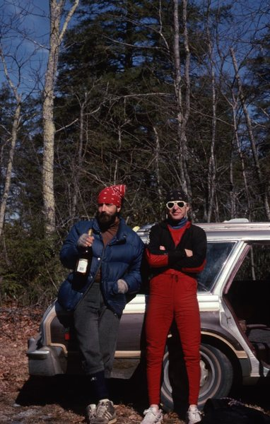 BP. & Late Doc post ice climbing at Whitesides!
