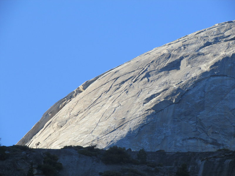 Rock Climbing Photo: the snake dike side of half dome