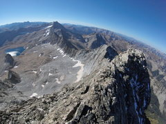 Rock Climbing Photo: The longest three miles. Looking at Snowmass from ...