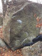 Rock Climbing Photo: Problem Child arete with Ballot Box chalked up?