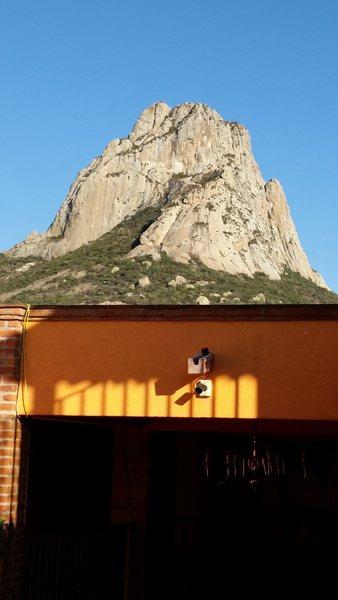 Rock Climbing Photo: View from the terrace of Hotel Posada Peña