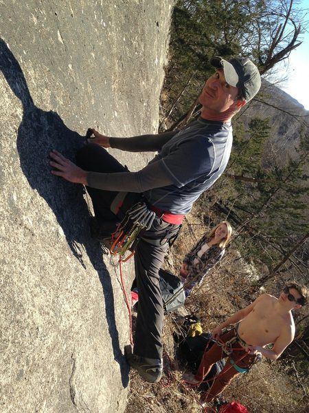 Rock Climbing Photo: Start low on the slab or traverse to first bolt