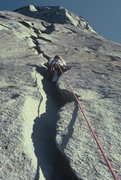 Rock Climbing Photo: 2nd Stoveleg pitch, 1979