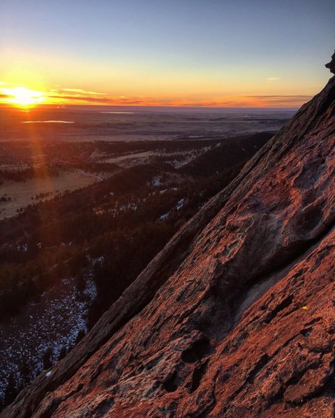 Rock Climbing Photo: Sunrise on the Third - 1/1/17.