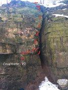 Rock Climbing Photo: Cave Arete