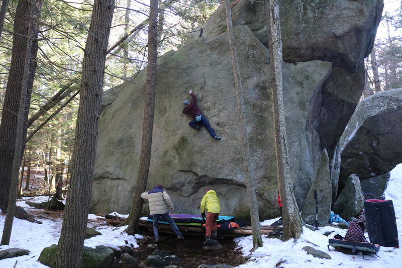 Rock Climbing Photo: About half way up!