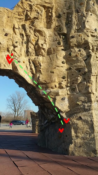 Rock Climbing Photo: Start and finish directly above the Vs.