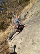 Rock Climbing Photo: Lower slab of Scarface Traverse