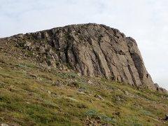 Rock Climbing Photo: Valshamar climbing crag, as seen from the approach...