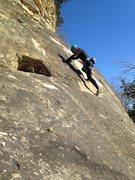 Rock Climbing Photo: Pascale toproping Scarface