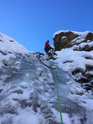 Rock Climbing Photo: Chicken limbo, ice ran out at top but majority of ...
