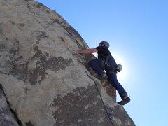 Rock Climbing Photo: Caleb Williams on Pup Dance Arete Coyote Corner