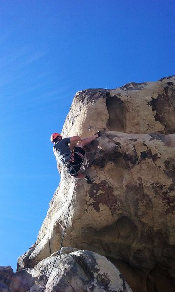 Rock Climbing Photo: Zach Tipton on Out of the Hood Ghetto Rock 5 12