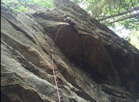 Rock Climbing Photo: Erik Kloeker on the First Ascent of 'Lesser of...