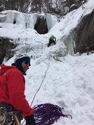 Rock Climbing Photo: With Ken Domino on my belay. Photo Steff Laituri.