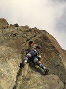 Rock Climbing Photo: Joti starts up the fun 5.8 crack