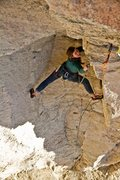 Rock Climbing Photo: Michelle working up the opening dihedral on Lords ...