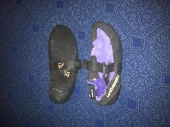 Mad Rock shoes  <br />Velcro closure <br />Sz 10 1/2 or 44 euro <br />These are HELLA TIGHT <br />Soles basically new. <br />$20 shipped