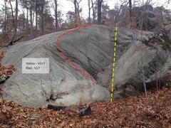 Rock Climbing Photo: Directly uphill on the other side of the approach ...