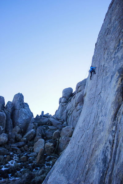 Climbing at The Tall Wall, Alabama Hills