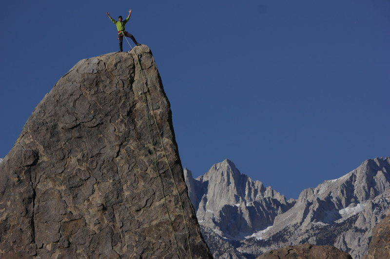 Rock Climbing Photo: On top of The Shark's Fin