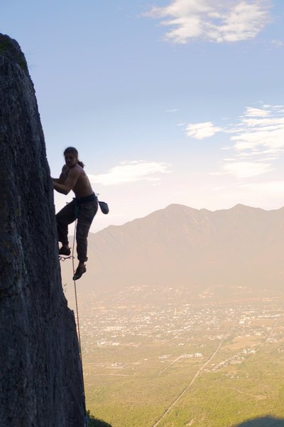 Sean Hible on the 2nd Ascent of Magician's Nephew.