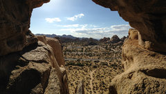 Rock Climbing Photo: Looking out The Eye on Cyclops Rock