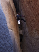 Rock Climbing Photo: Trying to get to the second bolt. Firewater Chimne...