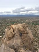 Rock Climbing Photo: This guy was topping out C&L on a perfect winter d...