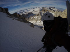 Rock Climbing Photo: Nearing the summit of the Mountaineers Route in la...