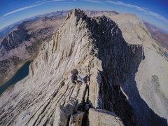 Rock Climbing Photo: Pat cruising the North Ridge