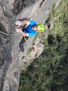 Rock Climbing Photo: Armando Dattoli follows Xochipili.  Photo by Mauri...