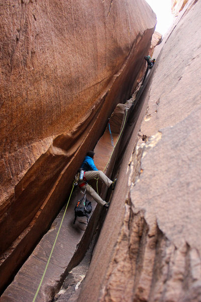 Rock Climbing Photo: The famous chimney pitches of Epinephrine