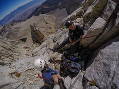 Rock Climbing Photo: Just before the washboard on Whitney's East Fa...