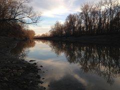 Rock Climbing Photo: Perche Creek feeds into the Missouri nearby Provid...
