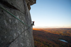 Rock Climbing Photo: Chris leading the money pitch, Fall 2016