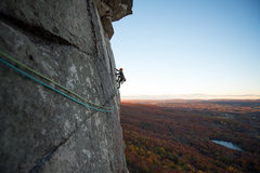 Rock Climbing Photo: the money pitch, Fall 2016
