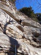 Rock Climbing Photo: Owl Eyes 5.8, Pocket Wall, South Providence