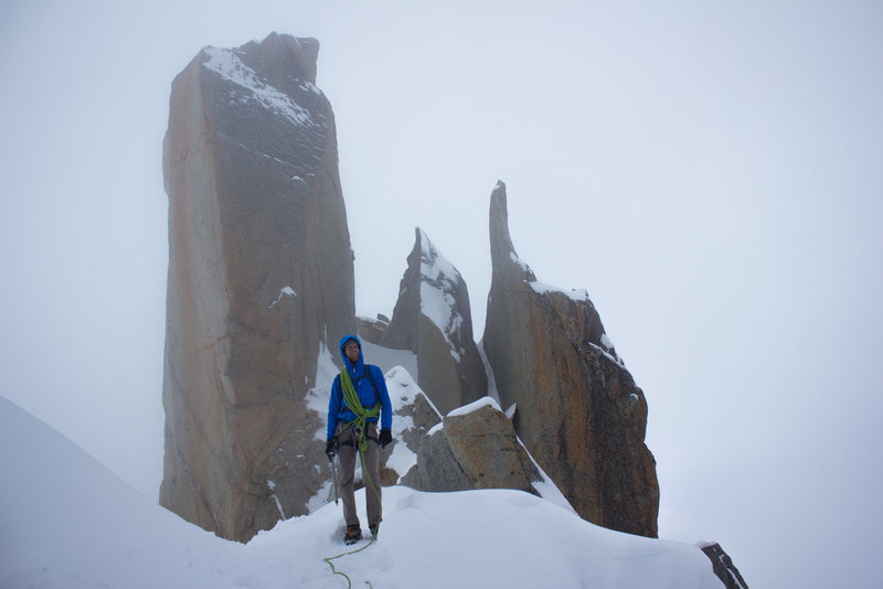 Rock Climbing Photo: Cloudy day on the Cosmiques