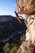 Rock Climbing Photo: The crux of the route, AKA, the most awesome shoot...