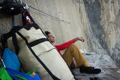 Rock Climbing Photo: Relazing on El Cap Tower