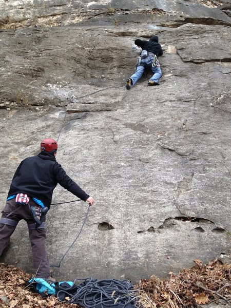 Greg Coats and Niel Guinn on Fowl Slab Wall, Providence North