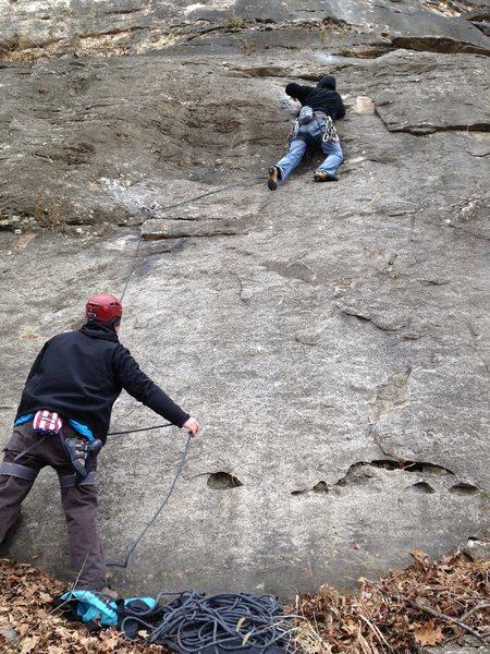 Rock Climbing Photo: Greg Coats and Niel Guinn on Fowl Slab Wall, Provi...