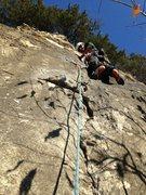 Rock Climbing Photo: Scott Riley leading Artifact 5.7, Artifact Wall, S...