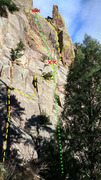 Rock Climbing Photo: VD. Classic wandering Eldo moderate. Mind the rope...