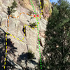 VD. Classic wandering Eldo moderate. Mind the rope drag going up. A 70m rope just reaches ground on lower rappel.